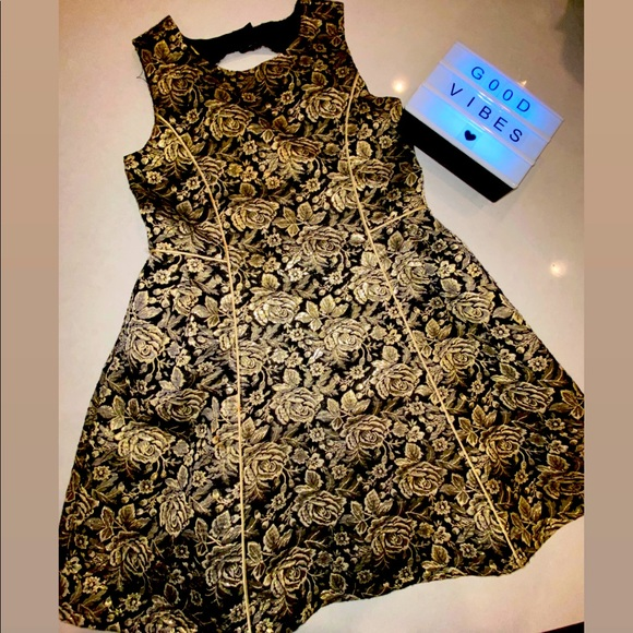 Gold and Black Formal Dress